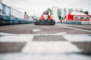 gokart racer on track